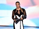 UFC fighter Ronda Rousey accepts the Best Female Athlete award onstage during The 2015 ESPYS at Microsoft Theater on July 15, 2015