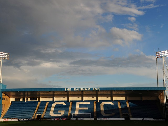 A general view of the interior of The Priestfield Stadium after the Sky Bet League One match between Gillingham and Preston North End at The Priestfield Stadium on October 19, 2013