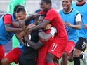 Teammates celebrate with goal keeper Luis Mejia #12 of Panama after they defeated the United States in a penalty shootout during the CONCACAF Gold Cup Third Place Match at PPL Park on July 25, 2015