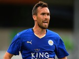 Christian Fuchs of Leicester City during the Pre Season Friendlly match between Lincoln City and Leicester City at Sincil Bank Stadium on July 21, 2015
