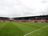 A general view of St. James' Park ahead of the Sky Bet League Two match between Exeter City and Scunthorpe United at St. James' Park on April 26, 2014
