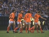 General view of dutch players during the World Cup Final match between Holland and Argentina at the Monumental Stadium in Buenos Aires, Argentina on June 29, 1978