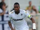 Angers' Jonathan Kodjia runs during a friendly football match between Bordeaux (FCGB) and Angers (SCO) on July 16, 2015