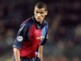 Rivaldo of Barcelona in action during the UEFA Champions League match against Hertha Berlin at the Nou Camp in Barcelona, Spain. Barcelona won the match 3-1 on March 15, 2000
