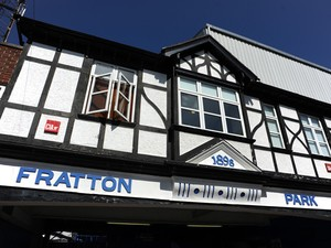 A General external view of Fratton Park before the Sky Bet League Two match between Portsmouth and Chesterfield at Fratton Park on August 31, 2013