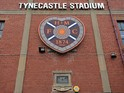 General Views of of Tynecastle Stadium home of Hearts on August 04, 2013