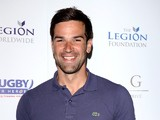 Gethin Jones taking part in celebrity golf classic at Mannings Heath Golf Club on May 20, 2013
