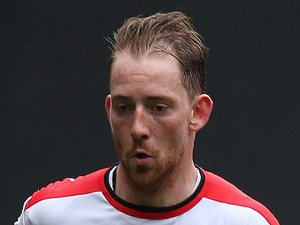 Danny Green of MK Dons in action during a friendly match between MK Dons and Northampton Town at Stadium mk on March 23, 2015