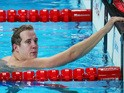 Andrew Willis of Great Britain looks on after the Men's 200m Breaststroke semifinal on day thirteen of the 16th FINA World Championships at the Kazan Arena on August 6, 2015