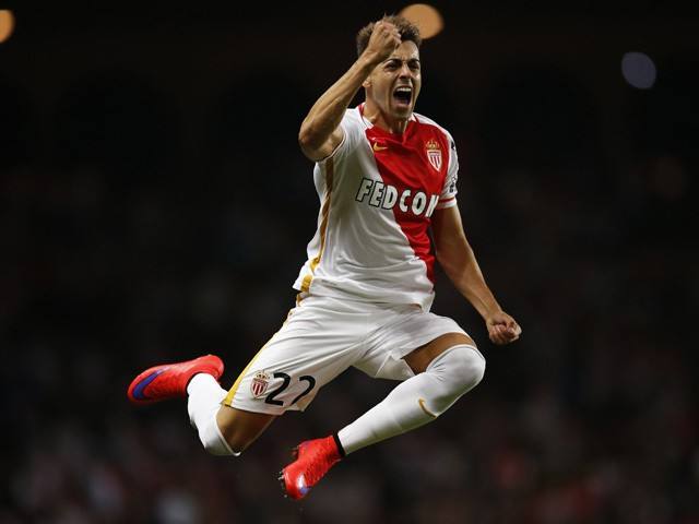 Monaco's Italian forward Stephan El Shaarawy celebrates after scoring the 4-0 during the UEFA Champions League third qualifying round second leg football match between AS Monaco vs BSC Young Boys on August 4, 2015