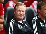 A crippled Ronald Koeman watches his Southampton side take on Everton on August 15, 2015