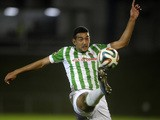 Rio Ave's Egyptian forward Ahmed Hassan kicks the ball during the Portuguese league football match Rio Ave FC vs Sporting Lisbon at the Rio Ave FC stadium in Vila do Conde on February 22, 2014