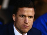 Gary Caldwell new manager of Wigan Athletic looks on prior to the Sky Bet Championship match between Fulham and Wigan Athletic at Craven Cottage on April 10, 2015