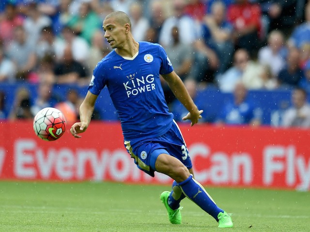 Gokhan Inler of Leicester City during the Barclays Premier League match between Leicester City and Tottenham Hotspur at the King Power Stadium on August 22, 2015
