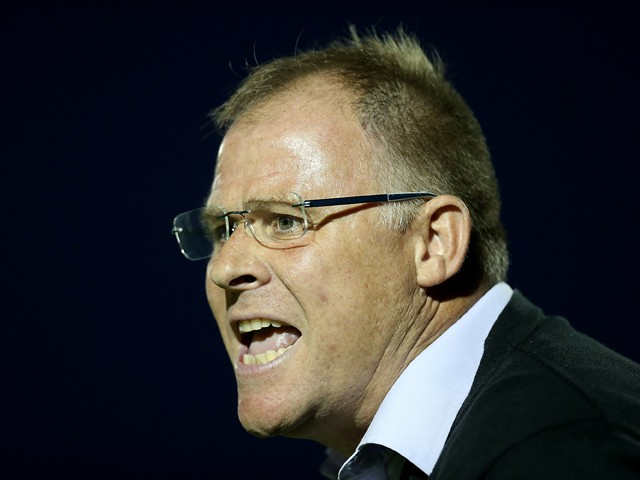 Blackpool manager Neil McDonald looks on during the Capital One Cup First Round match between Northampton Town and Blackpool at Sixfields Stadium on August 11, 2015