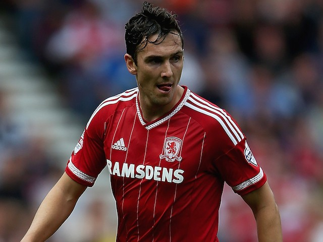 Stewart Downing of Middlesbrough in action during the Sky Bet Championship match between Middlesbrough v Bristol City at Riverside Stadium on August 22, 2015