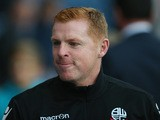Neil Lennon the manager of Bolton Wanderers looks on prior to the Sky Bet Championship match between Blackburn Rovers and Bolton Wanderers at Ewood park on August 28, 2015