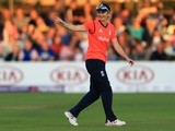 Charlotte Edwards of England during the first Natwest T20 match of the Women's Ashes Series between England Women and Australia Women at The Essex County Ground on August 26, 2015
