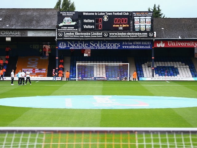 A general view inside Kenilworth Road ahead of the League Cup game between Luton Town and Stoke City on August 25, 2015