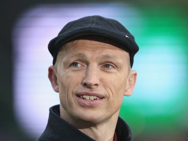 Matt Dawson, the former England international, now BT Sport rugby pundit looks on during the Aviva Premiership match between Harlequins and Bath at the Twickenham Stoop on May 8, 2015