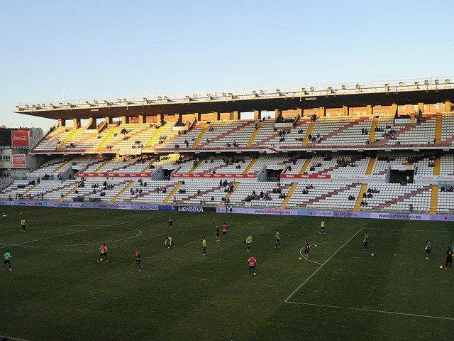 General view as players warm up at at Teresa Rivero stadium before the La Liga match between Rayo Vallecano de Madrid and Granada CF on December 14, 2013