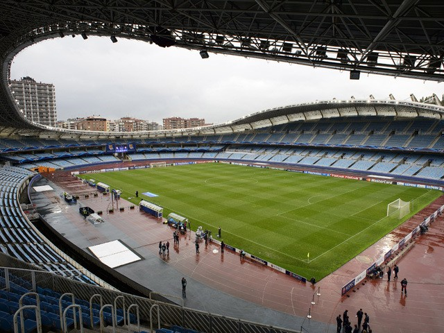 General view of the Anoeta Stadium, home of Real Sociedad de Futbol taken during the UEFA Champions League group stage match between Real Sociedad de Futbol and Shakhtar Donetsk held on September 17, 2013