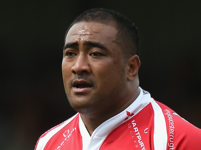 Sila Puafisi of Gloucester looks on during the pre season friendly match between Gloucester and Yorkshire Carnegie at Kingsholm Stadium on August 16, 2014