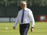 England coach Roy Hodgson looks on before the UEFA EURO 2016 Qualifier between San Marino and England at Stadio Olimpico on September 5, 2015