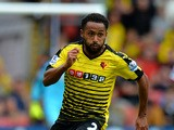 Ikechi Anya of Watford during the Barclays Premier League match between Watford and West Bromwich Albion at Vicarage Road on August 15, 2015