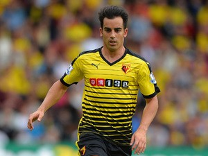 Jose Manuel Jurado of Watford during the Barclays Premier League match between Watford and West Bromwich Albion at Vicarage Road on August 15, 2015