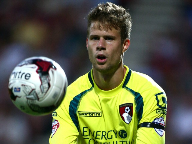 Benji Buchel of Bournemouth during the Pre Season Friendly match between AFC Bournemouth and Southampton at The Goldsands Stadium on July 25, 2014 in Bournemouth, England.