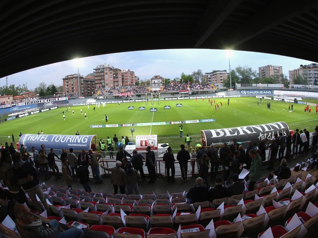 A general view of stadium during the Serie B match between Carpi FC and FC Bari at Stadio Sandro Cabassi on April 28, 2015