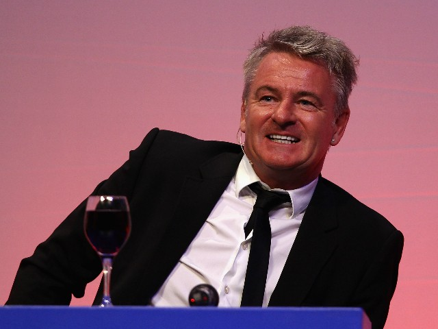 Charlie Nicholas answers questions during the Gillette Soccer Saturday Live with Jeff Stelling on March 19, 2012 at the Bournemouth International Centre in Bournemouth, England.