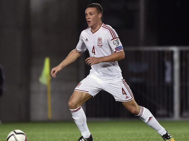 Wales defender James Chester during the Euro 2016 qualifying round football match Andorra vs Wales on September 9, 2014 at the Municipal Stadium in Andorra. AFP PHOTO / PASCAL PAVANI (Photo credit should read PASCAL PAVANI/AFP/Getty Images)