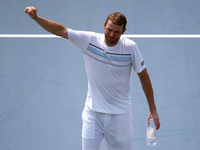 Mardy Fish of the United States walks off of the court after losing his Men's Singles Second Round match against Feliciano Lopez of Spain on Day Three of the 2015 US Open at the USTA Billie Jean King National Tennis Center on September 2, 2015 in the Flus