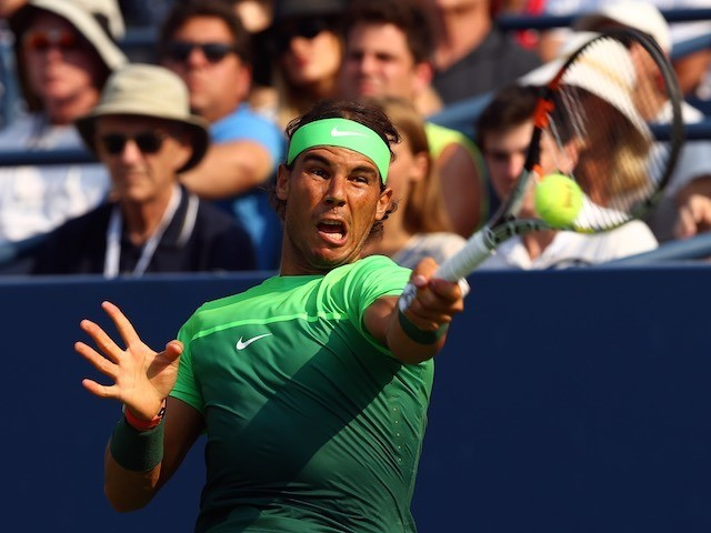 Rafael Nadal in action during the second round of the US Open on September 2, 2015