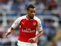 Francis Coquelin of Arsenal in action during the Barclays Premier League match between Newcastle United and Arsenal at St James' Park on August 29, 2015
