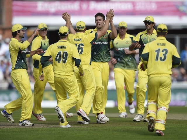 Happy Australians during the final ODI with England on September 13, 2015