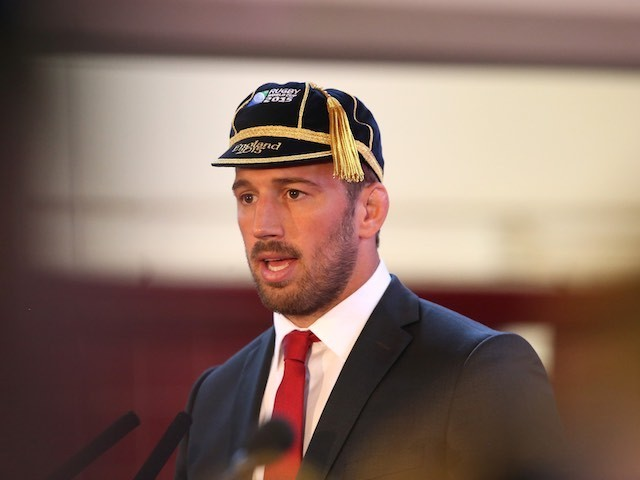 England captain Chris Robshaw attends the official Rugby World Cup welcome ceremony on September 12, 2015