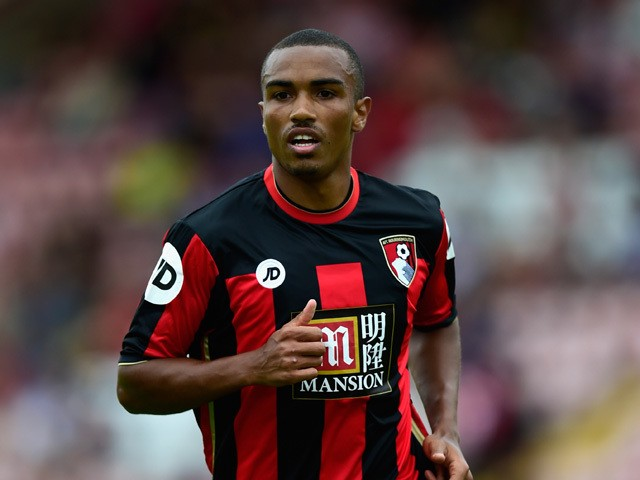 AFC Bournemouth goalscorer Junior Stanislas in action during the Pre season friendly match between Exeter City and AFC Bournemouth at St James Park on July 18, 2015