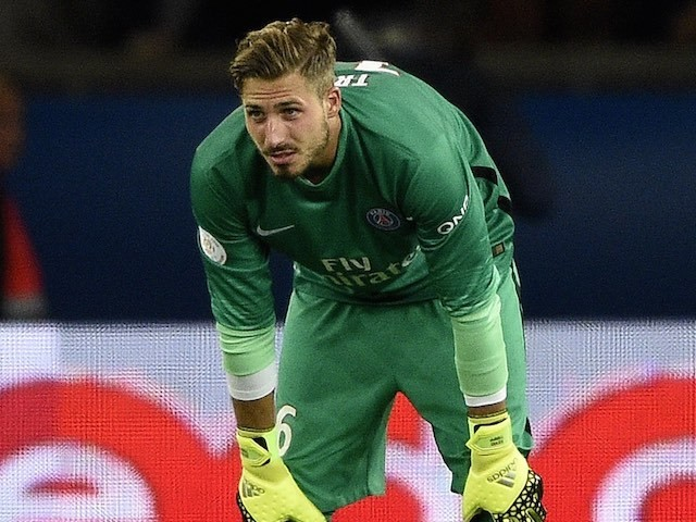Kevin Trapp in action for PSG on September 11, 2015