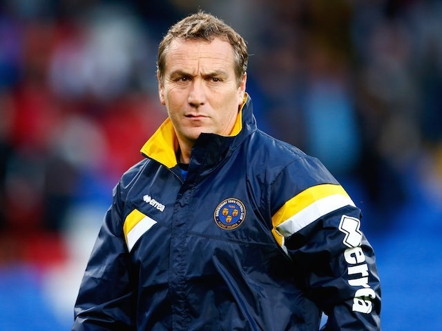Shrewsbury Town boss Micky Mellon on August 25, 2015