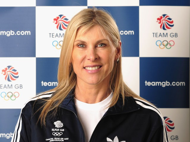 Sharron Davies Team GB 2012 Ambassador poses for a portrait on March 28, 2011 in London, England.