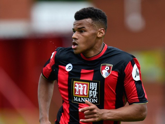 AFC Bournemouth defender Tyrone Mings in action during the Pre season friendly match between Exeter City and AFC Bournemouth at St James Park on July 18, 2015