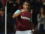 Dimitri Payet celebrates scoring for West Ham United against Newcastle on September 14, 2015