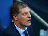 Slaven Bilic manager of West Ham United looks on during the Barclays Premier League match between Manchester City and West Ham United at Etihad Stadium on September 19, 2015 in Manchester, United Kingdom