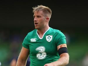 Luke Fitzgerald of Ireland during the International match between Ireland and Scotland at the Aviva Stadium on August 15, 2015 in Dublin, Ireland.