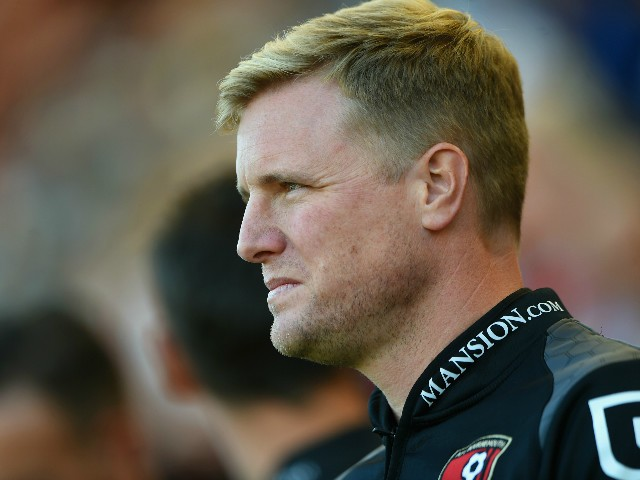 Eddie Howe Manager of Bournemouth looks on prior to the Barclays Premier League match between A.F.C. Bournemouth and Sunderland at Vitality Stadium on September 19, 2015 in Bournemouth, United Kingdom.