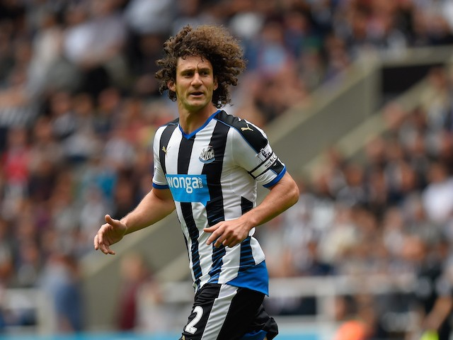 Fabricio Coloccini of Newcastle United in action during the Barclays Premier League match between Newcastle United and Southampton at St James Park on August 9, 2015 in Newcastle, England.