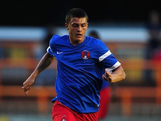 Harry Lee of Leyton Orient in action during the pre season friendly match between Braintree Town and Leyton Orient at the Miles Smith Stadium on July 10, 2015 in Braintree, England.